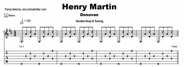 Donovan - Henry Martin Tab