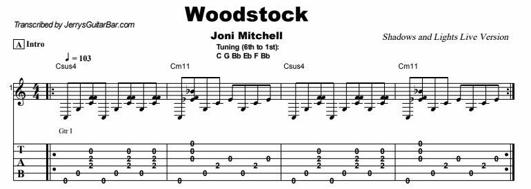 Joni Mitchell Woodstock Shadows And Light Version Jerrys