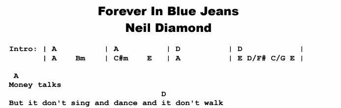 Neil Diamond Forever In Bluejeans Original