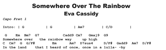 Eva Cassidy - Over The Rainbow | Guitar Lesson, Tab & Chords | JGB