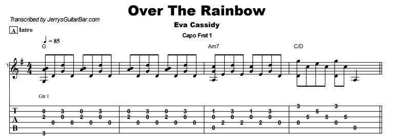 Eva Cassidy - Over The Rainbow Tab