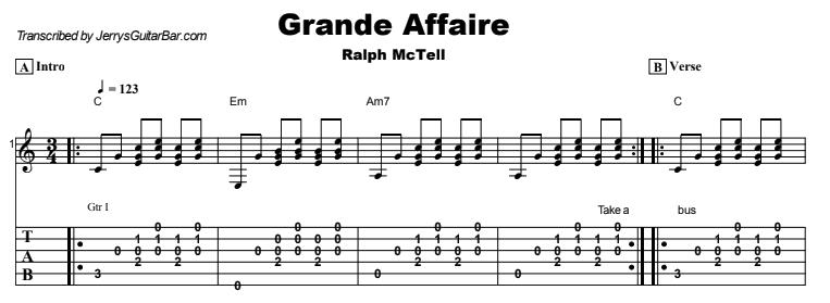 Ralph McTell - Grande Affaire Tab