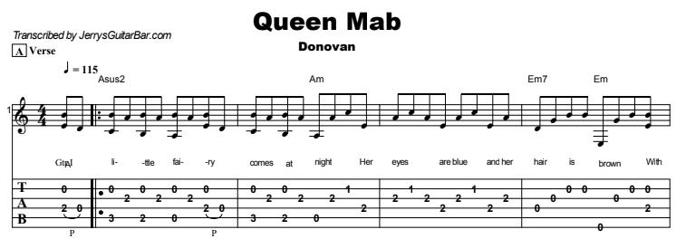 Donovan - Queen Mab Tab