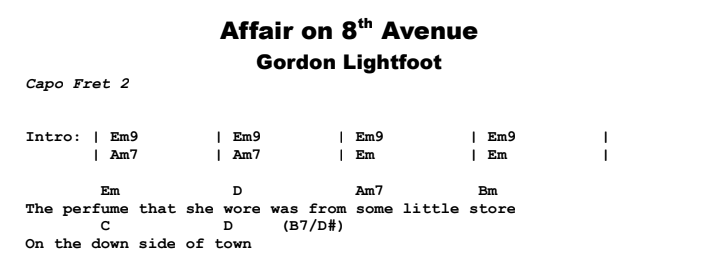 Affair On 8th Avenue | Guitar Lesson, Tab & Chords | Jerry\'s Guitar Bar