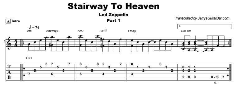 Led Zeppelin - Stairway To Heaven | Guitar Lesson, Tab