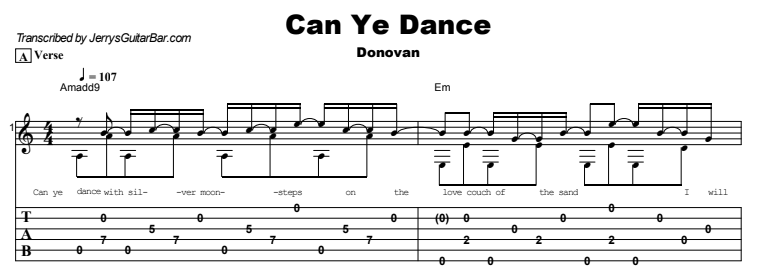 Donovan - Can Ye Dance Tab