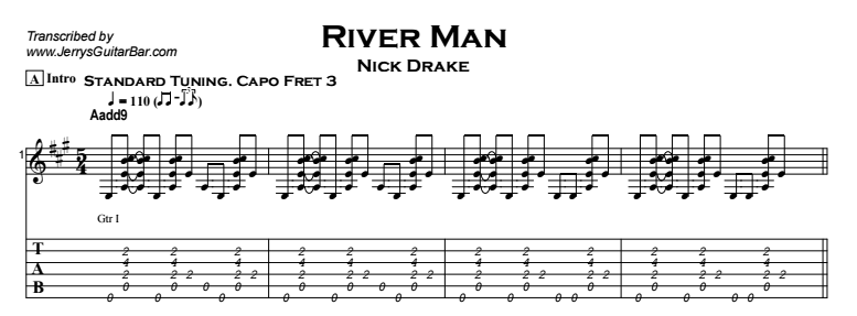Nick Drake - River Man Tab