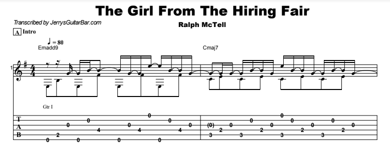 Ralph McTell - The Girl From The Hiring Fair Tab