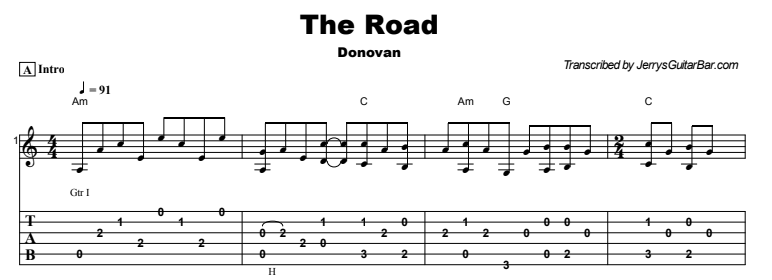 Donovan - The Road Tab