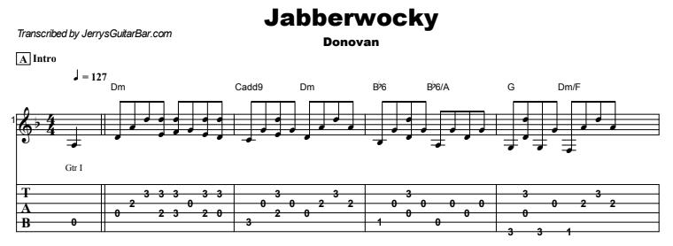 Donovan - Jabberwocky Tab