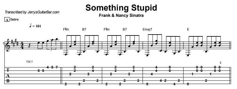 Frank Sinatra - Something Stupid Tab