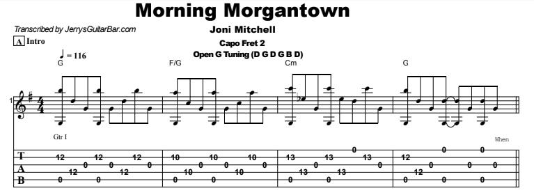 Joni Mitchell - Morning Morgantown Tab