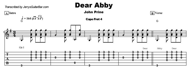 John Prine - Dear Abby Tab