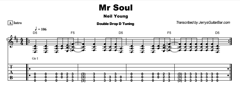 Neil Young - Mr Soul Tab
