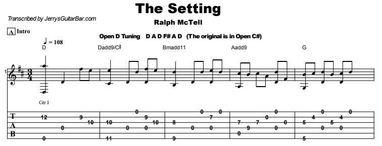 Ralph McTell - The Setting Tab