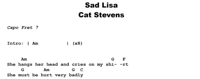 Cat Stevens - Sad Lisa  Chords & Songsheet