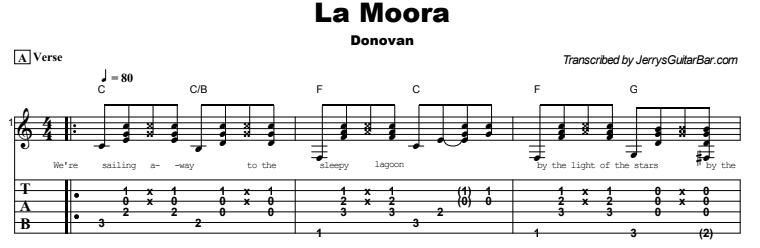 Donovan - La Moora  Tab