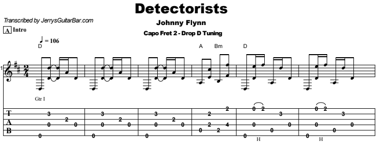 Johnny Flynn - Detectorists Tab