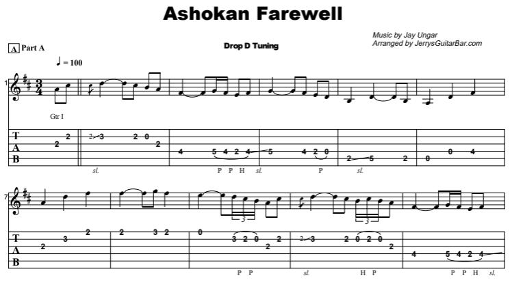 Jay Ungar - Ashokan Farewell  Tab