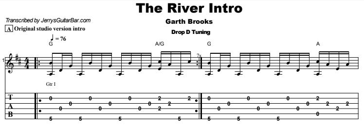Garth Brooks - The River Tab