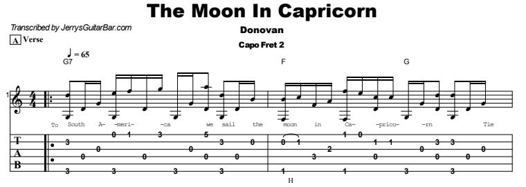 Donovan - The Moon in Capricorn Tab