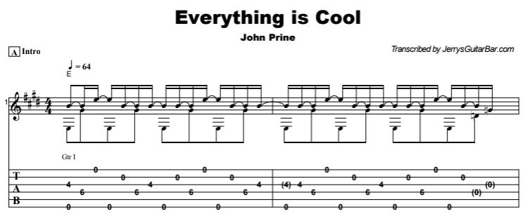 John Prine - Everything is Cool Tab