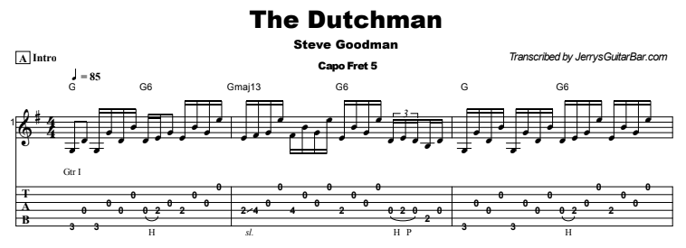 Steve Goodman - The Dutchman Tab