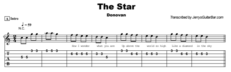 Donovan - The Star Tab