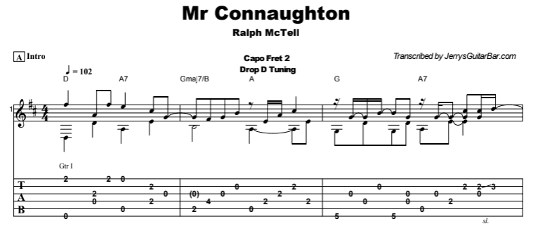Ralph McTell - Mr Connaughton Tab