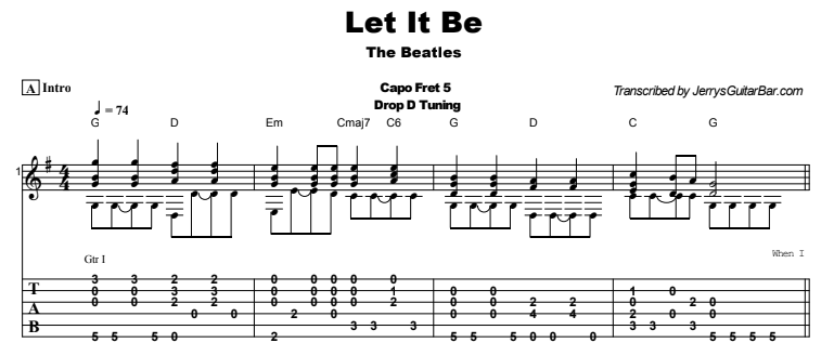 The Beatles - Let It Be Tab