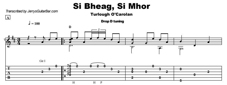 Celtic Instrumental - Si Bheag, Si Mhor Tab