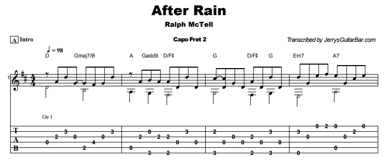 Ralph McTell - After Rain Tab