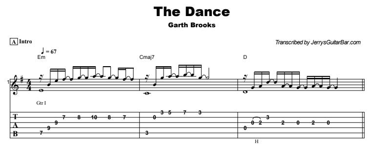 Garth Brooks - The Dance Tab