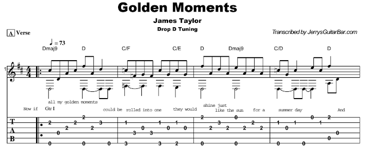 James Taylor - Golden Moments Tab