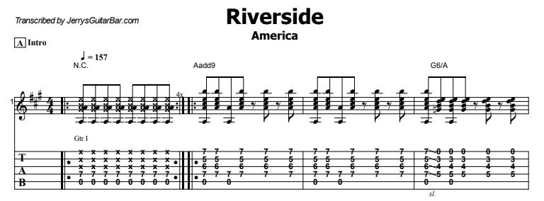 America - Riverside Tab