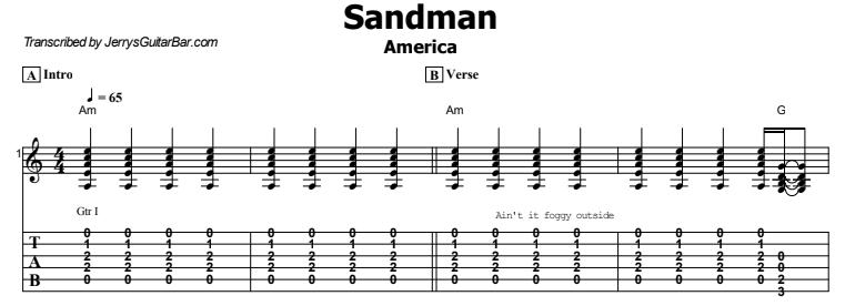 America - Sandman Tab