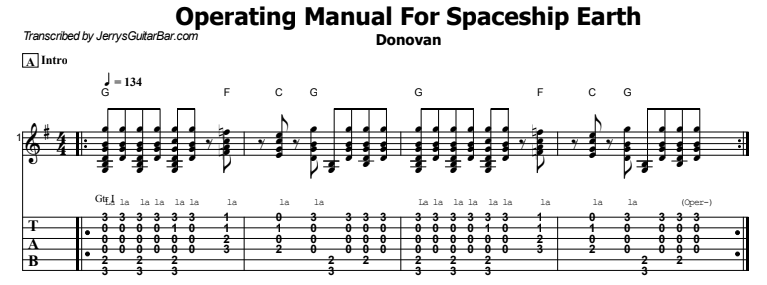 Donovan - Operating Manual For Spaceship Earth Tab