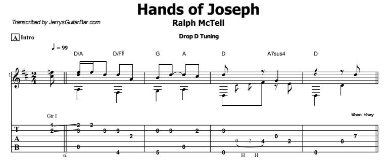 Ralph McTell - Hands of Joseph Tab