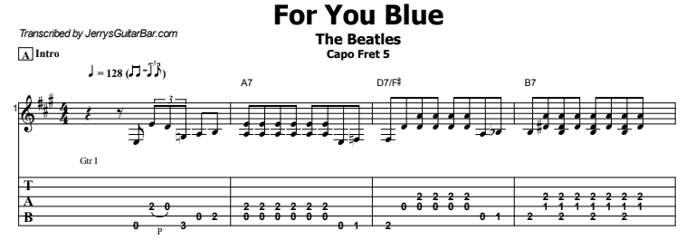 The Beatles - For You Blue Tab