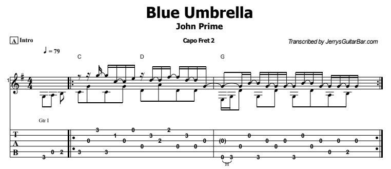 John Prine - Blue Umbrella Tab