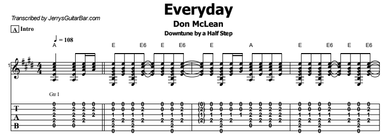 Don McLean - Everyday Tab
