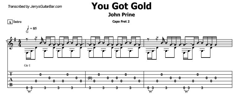 John Prine - You Got Gold  Tab