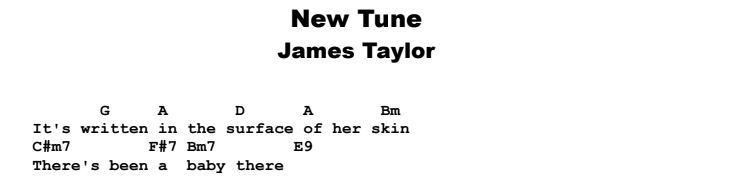 James Taylor - New Tune Guitar Lesson Chords & Songsheet Preview