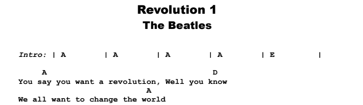 The Beatles - Revolution 1 Guitar Lesson Chords & Songsheet Preview