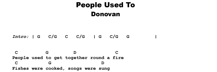 Donovan - People Used To Guitar Lesson Chords & Songsheet Preview