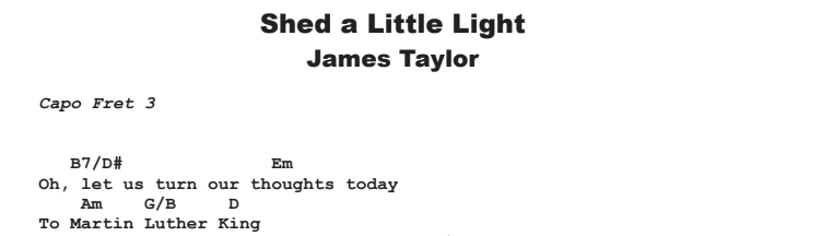 James Taylor - Shed a Little Light Guitar Lesson Chords & Songsheet Preview