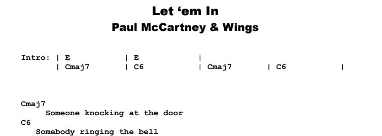 Paul McCartney & Wings - Let 'em In Guitar Lesson Chords & Songsheet Preview